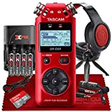 Tascam DR-05 Portable Handheld Digital Audio Recorder With Platinum Accessory Bundle