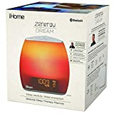 iHome Zenergy Bedside Sleep Therapy Machine And Sunlight Alarm Clock