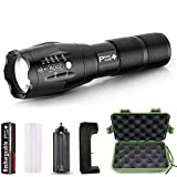 PeakPlus LFX1000 Tactical Flashlight with Rechargeable Battery, Case & Charger
