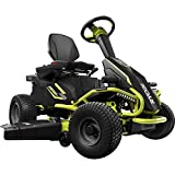 Ryobi 38 inches 100 Ah Battery Electric Rear Engine Riding Lawn Mower