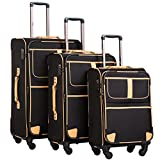 Coolife Soft-Sided 3-Piece Luggage Set