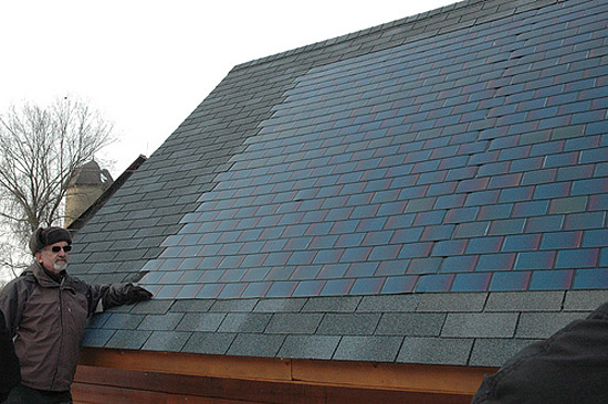 Form and function: Dow's new solar shingles blend in and collect solar energy.