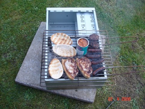 Cooking meat on the PC BBQ