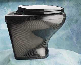 Carbon fibre toilet