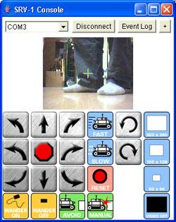 Remote Robot Control Screen