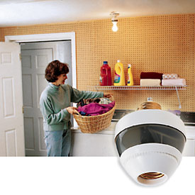 Motion-sensing Light Bulb Fixtures