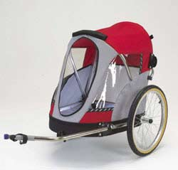 Bicycle trailer for pets.