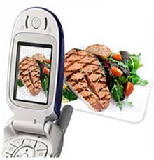Cell phone camera diet advice