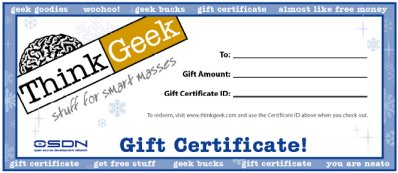 Think Geek Voucher