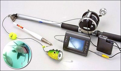 летняя рыбалка с подводной камерой