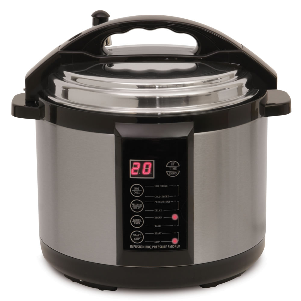 The Only 6 1/2-qt Indoor Pressure Smoker