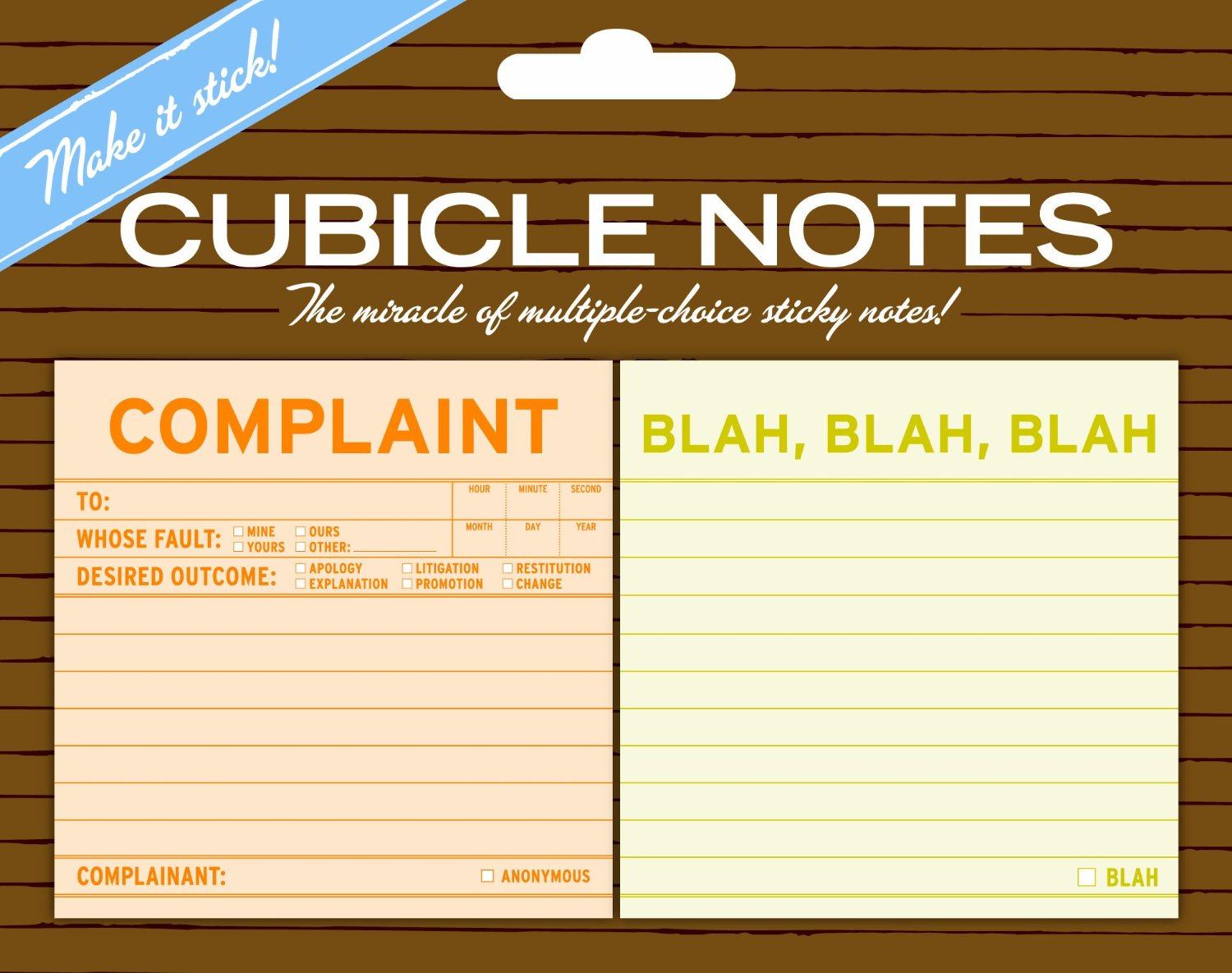 Knock Knock Sticky Cubicle Notes Complaint and Blah