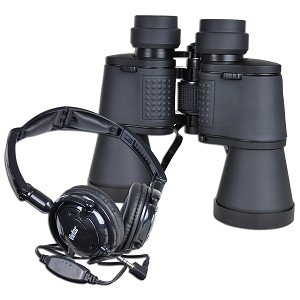 Vivitar Look & Listen 10x50 Binocular with Headphones