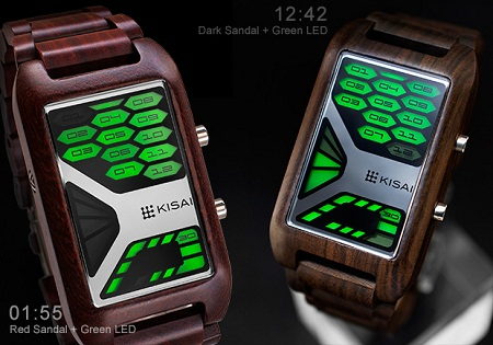 Kisai Console Wood Watch