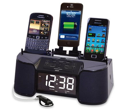 four-device-charging-clock-radio