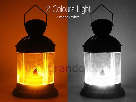 2 color USB lantern mp3 player