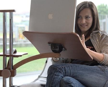 Wood Lounge Desk