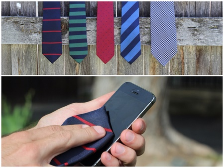 Waltman Co Microfiber Neck Tie