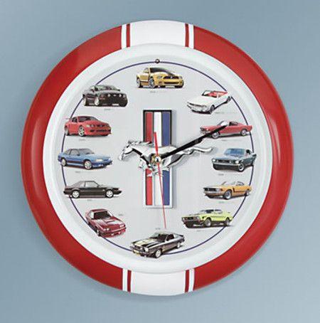 engine-mustang-clock