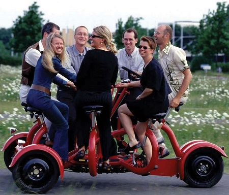 The Seven Person Tricycle