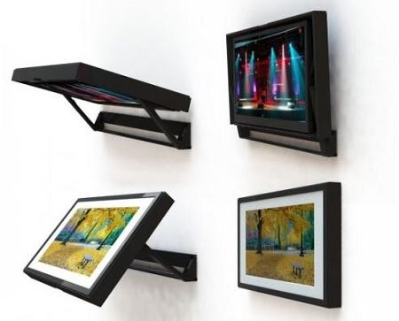 This fliparound motorized tv mount won t make you choose for Motorized tv wall mount reviews