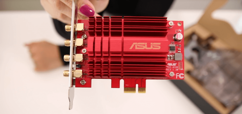 Asus AC3100 PCIe Wireless Adapter Close Up