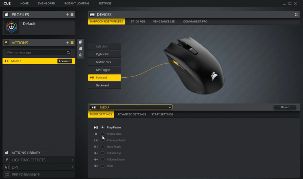 Corsair Harpoon RGB Wireless Software