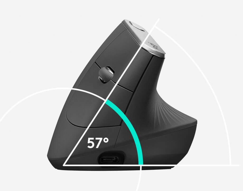Logitech MX Vertical Wireless Mouse illustration