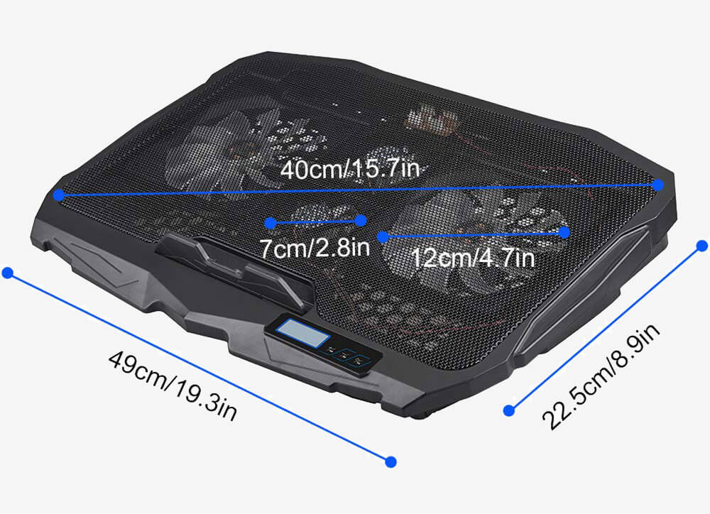 Aicheson Laptop Cooling Pad Chill Mat S-18 measurements
