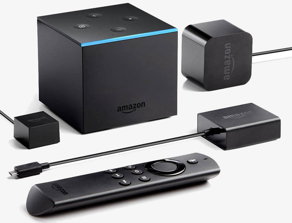 Amazon Fire TV Cube remote and cables