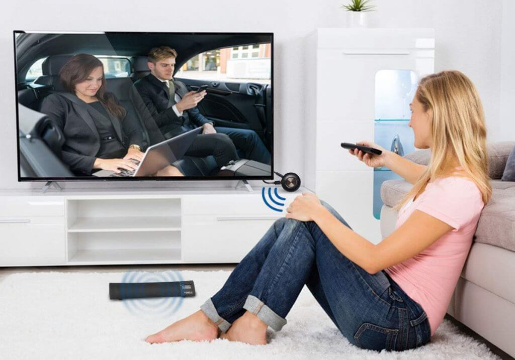 Avantree Priva III on TV and bluetooth box