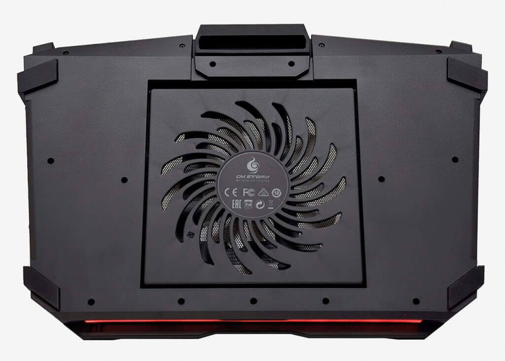 CM Storm SF-17 Gaming Laptop Cooling Stand fan