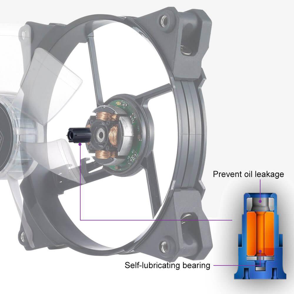 Cooler Master JetFlo 120 self-lubricating bearing