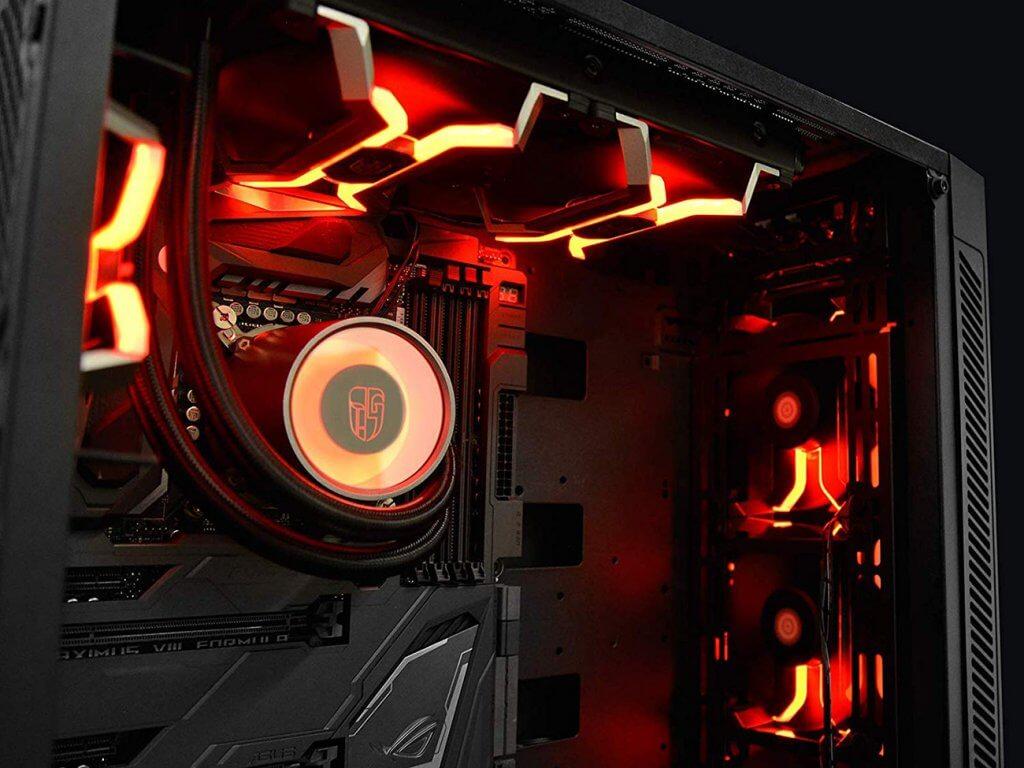 Deepcool MF120 red in case