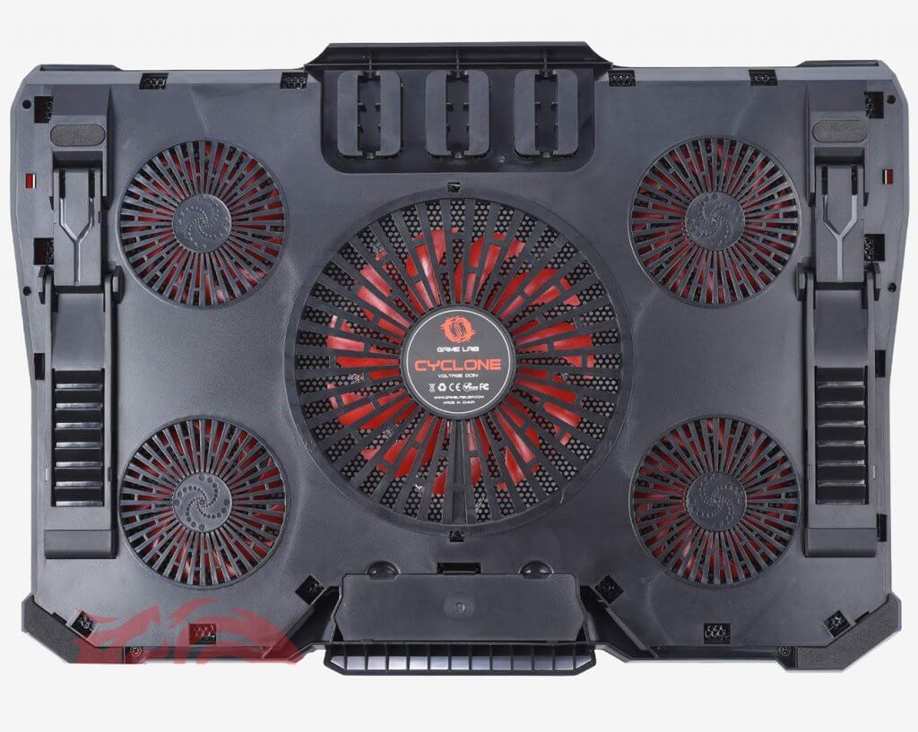 Game Lab Cyclone E-Sport LED Cooling Pad back