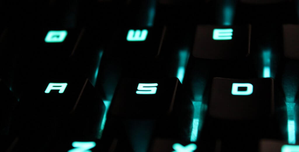 Gaming Keypad Keys Close up
