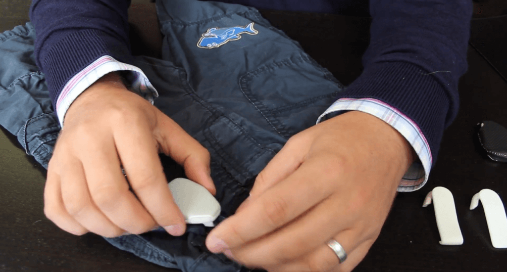 Jiobit GPS Tracked attached to kids pants