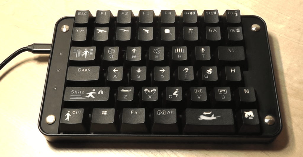 Koolertron Cherry MX Black PUBG version