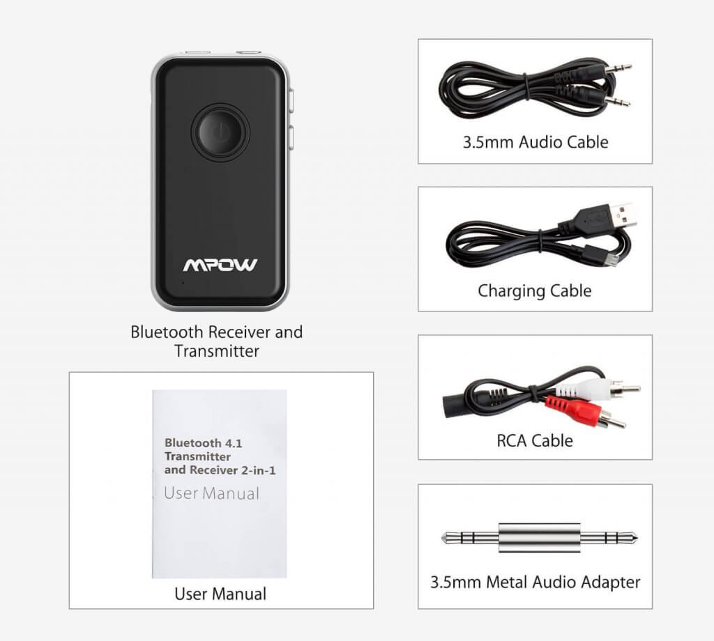 Mpow 2-In-1 accessories