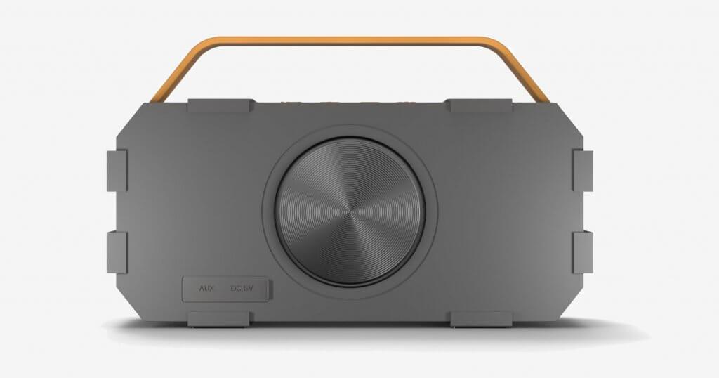 Photive M90 Portable Waterproof Bluetooth Speaker back