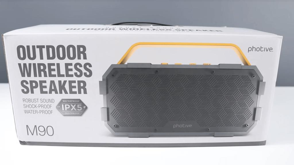 Photive M90 Portable Waterproof Bluetooth Speaker box