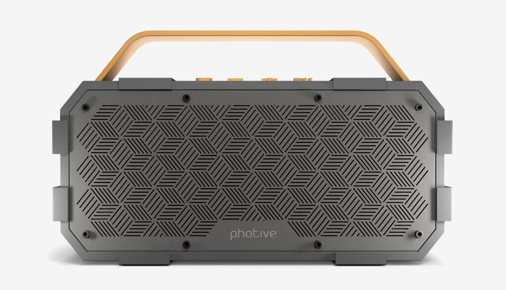 Photive M90 Portable Waterproof Bluetooth Speaker front