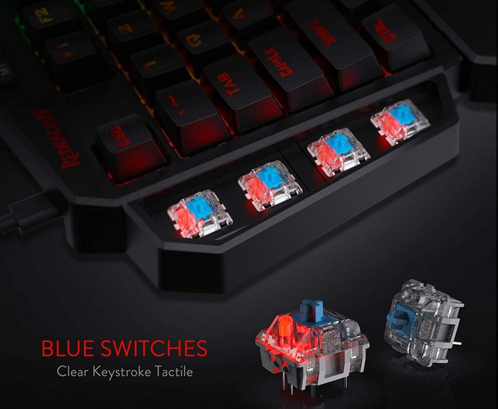 Redragon K585 keys