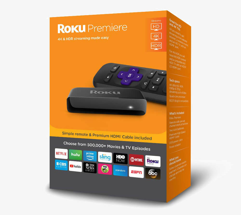 Roku Premiere packaging