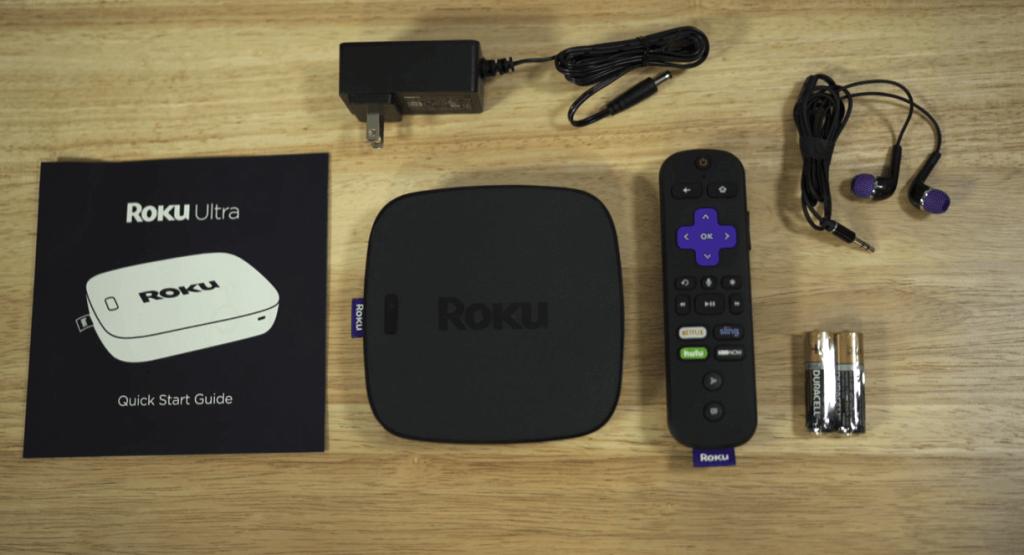 Roku Ultra Box Content