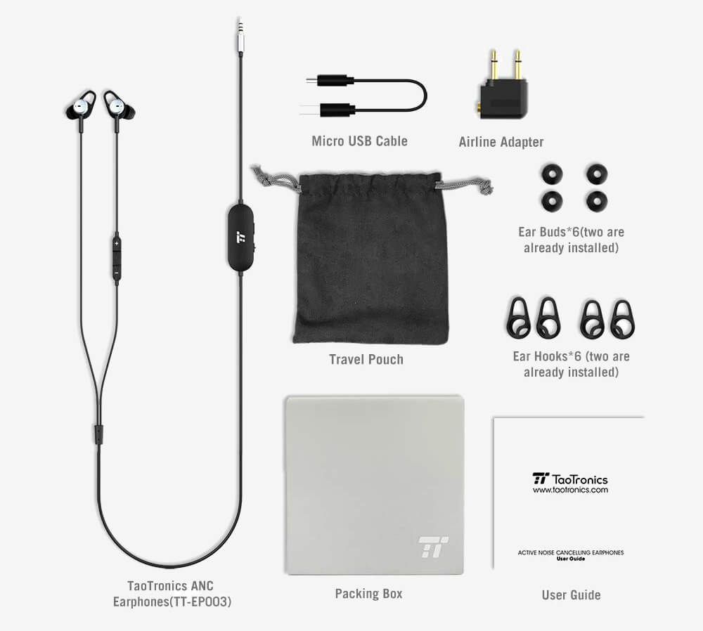 TaoTronics TT-EP03 accessories