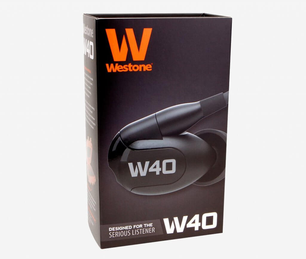 Westone W40 packaging