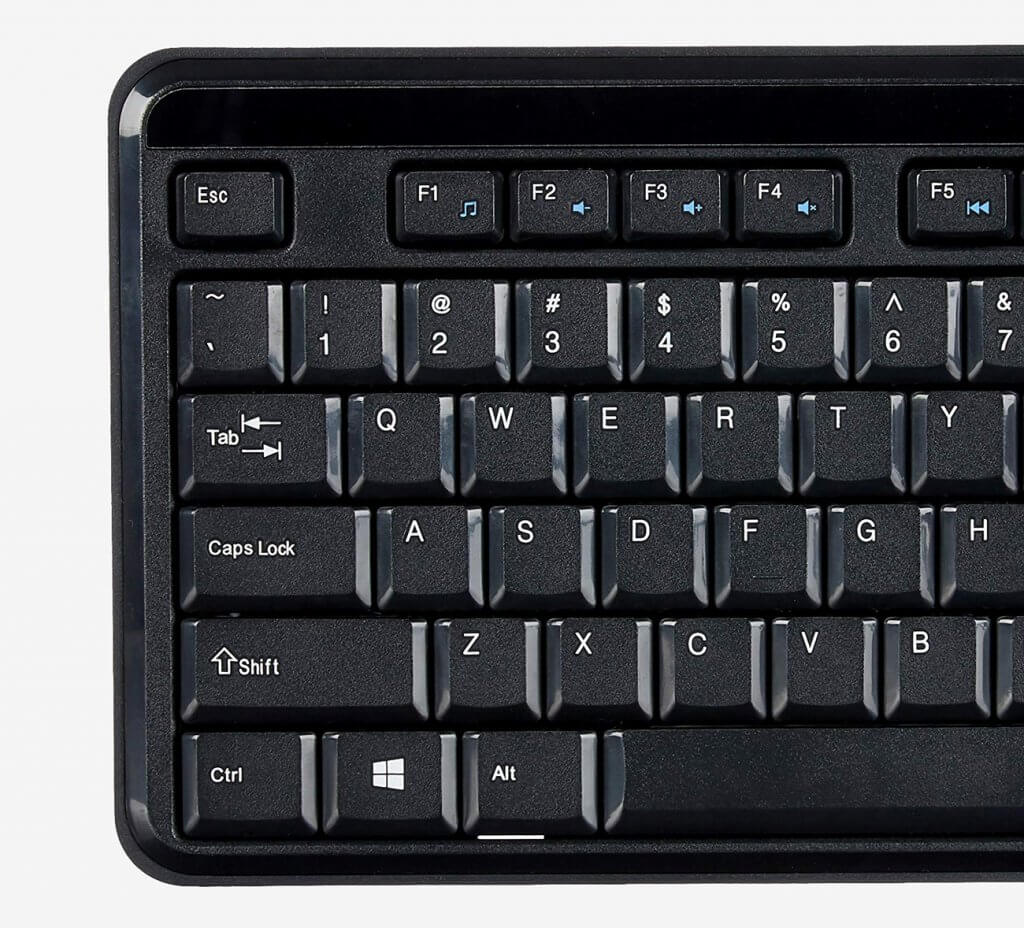 AmazonBasics Wireless Keyboard keys