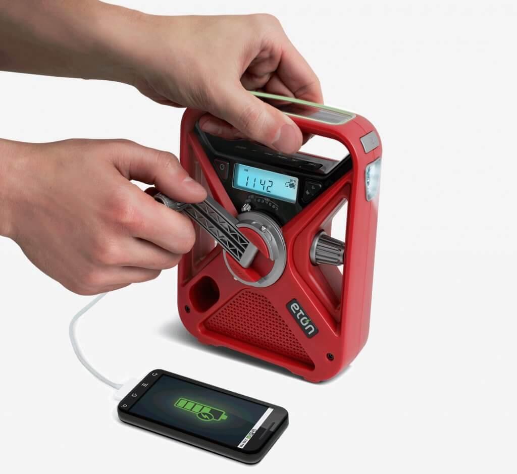 American Red Cross Emergency NOAA Weather Radio charging phone