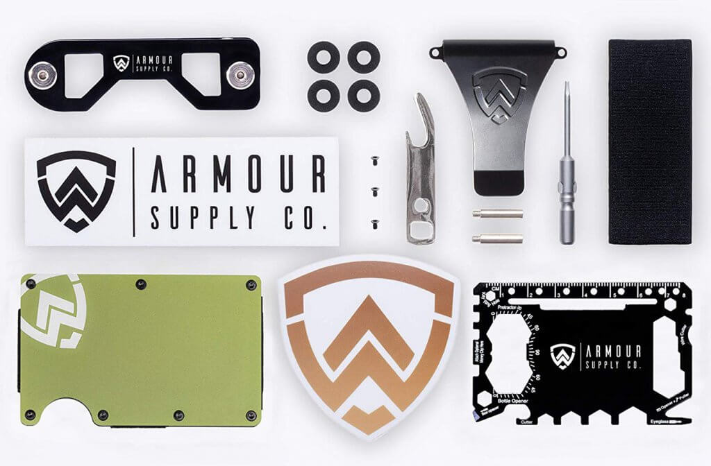 Armour Supply Co. RFID Wallet box and accessories